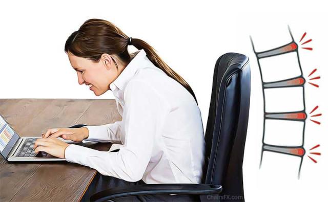 Mode de vie sedentaire et mauvaises habitudes posturales de travail