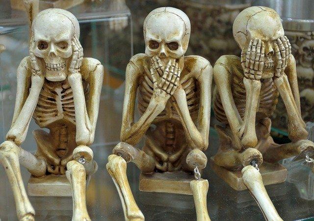 Squelettes avec os craquants